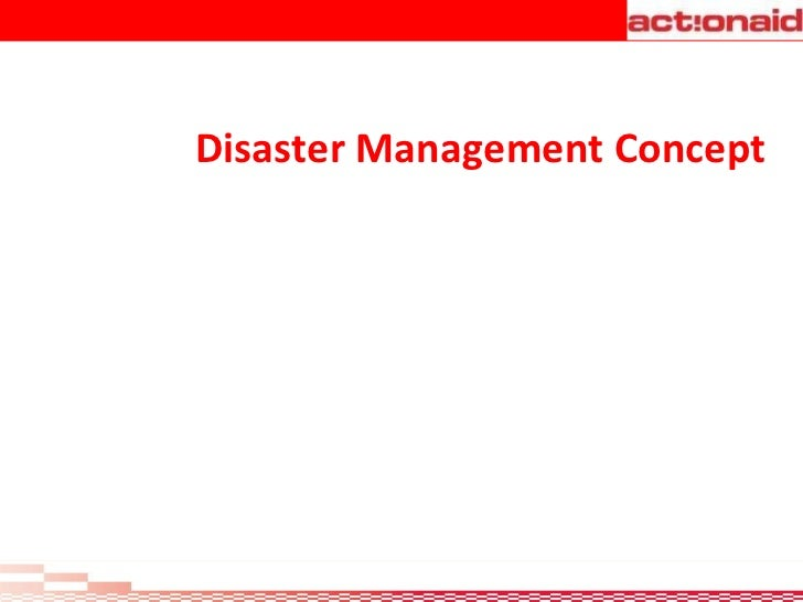Disaster Management Concept