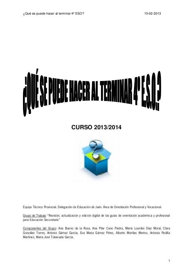 Guía Orientación 4º ESO 2013-14 -marzo-