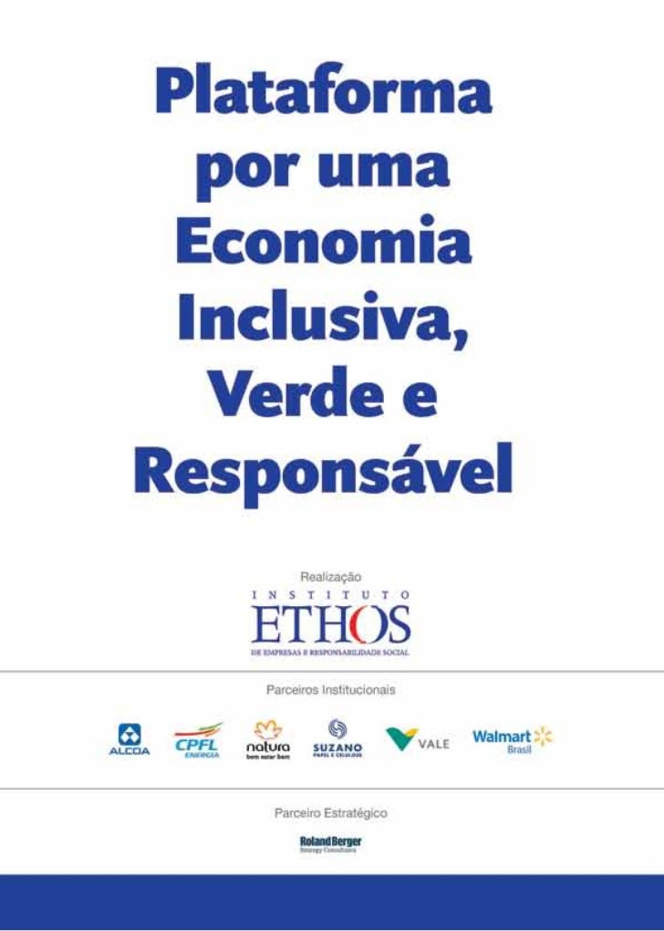Plataforma por uma economia inclusiva, verde e responsável