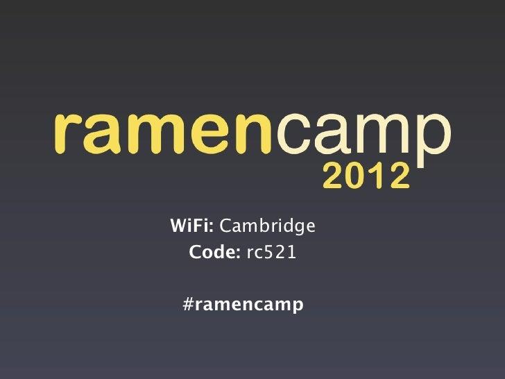 2012 RamenCamp Intro