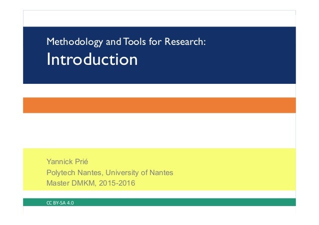 Tools and Methodology for Research: Introduction