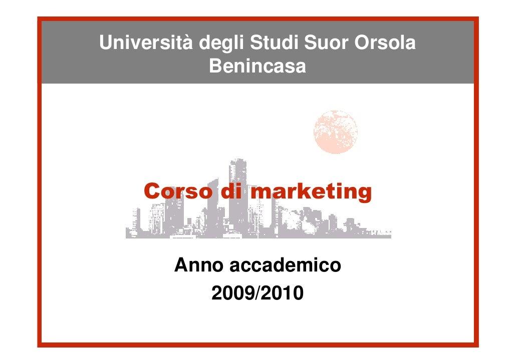 Università degli StudiSuor Orsola Università degli Studi Suor Orsola             Benincasa            Benincasa      Corso...