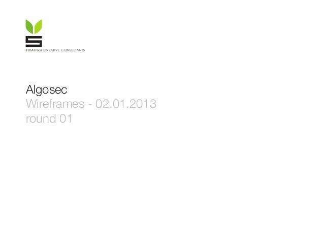 Algosec Wireframes - 02.01.2013 round 01