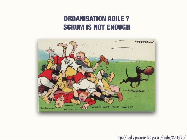 ORGANISATION AGILE ? SCRUM IS NOT ENOUGH http://rugby-pioneers.blogs.com/rugby/2010/01/