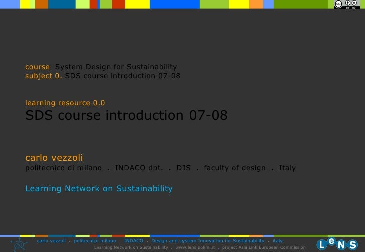 0.0 Sds Course Introduction Vezzoli 07 08 (28.10.08)