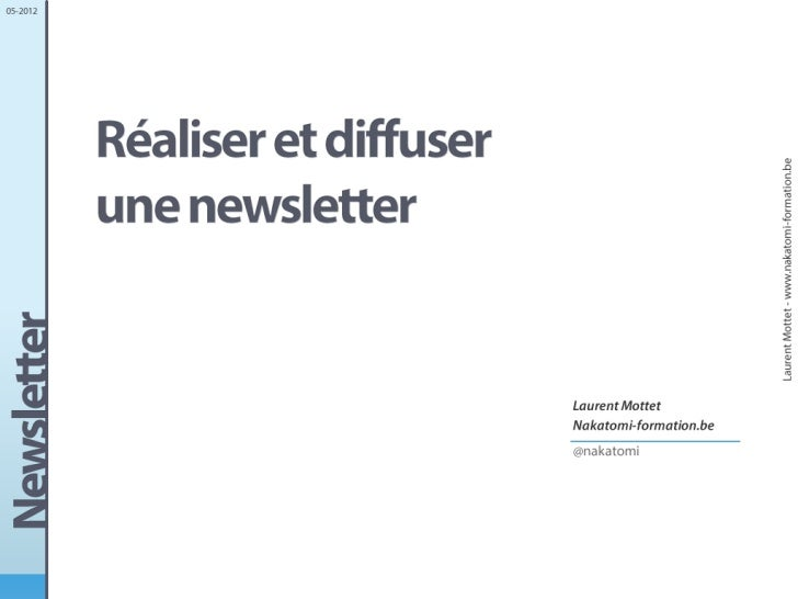 Conception d'une newsletter