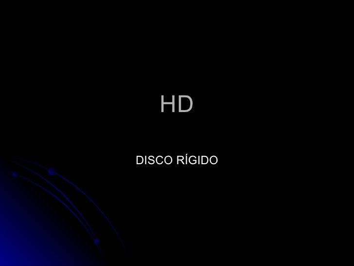 HD DISCO RÍGIDO