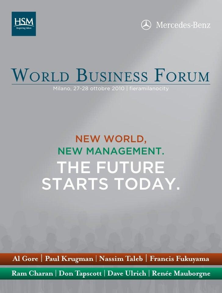 World Busines Forum MILAN 2010.