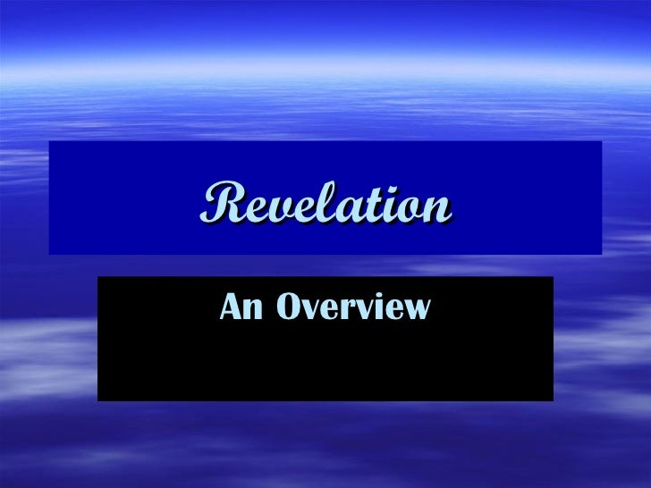 Revelation An Overview