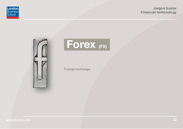 Forex jargon buster