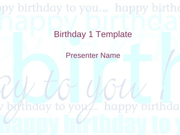 Birthday 1 Template Presenter Name