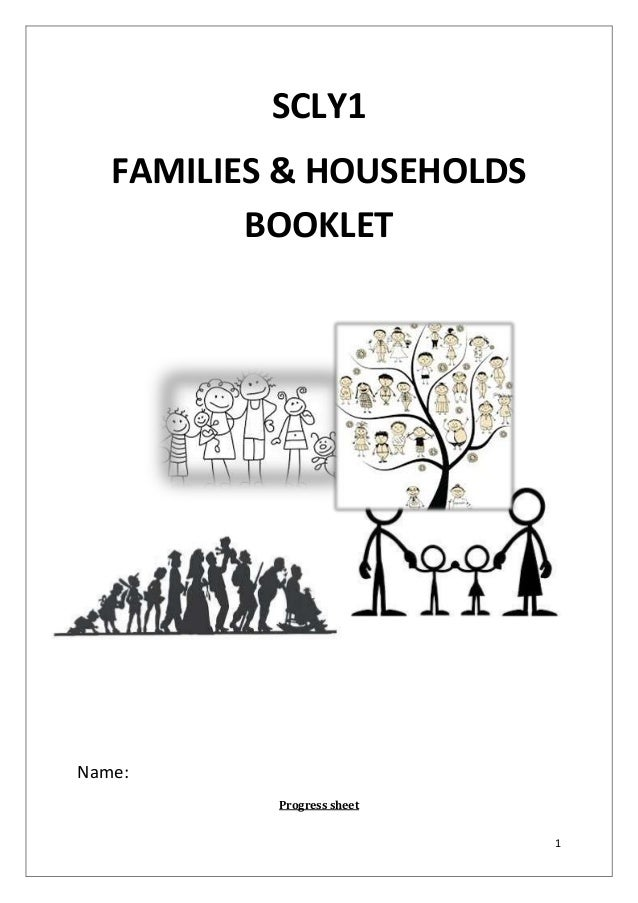 SCLY1 FAMILIES & HOUSEHOLDS BOOKLET  Name: Progress sheet 1