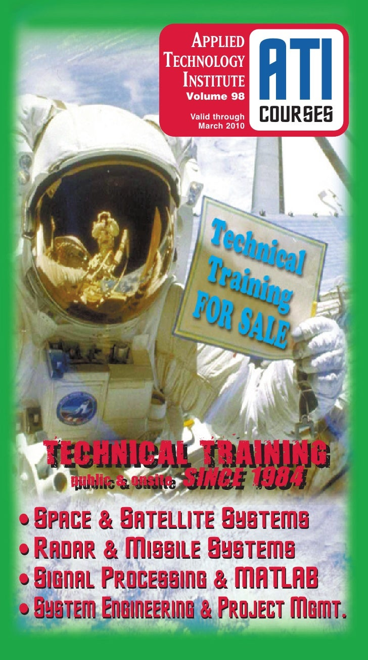 ATI Space, Satellite & Aerospace Engineering Technical Training Courses Catalog