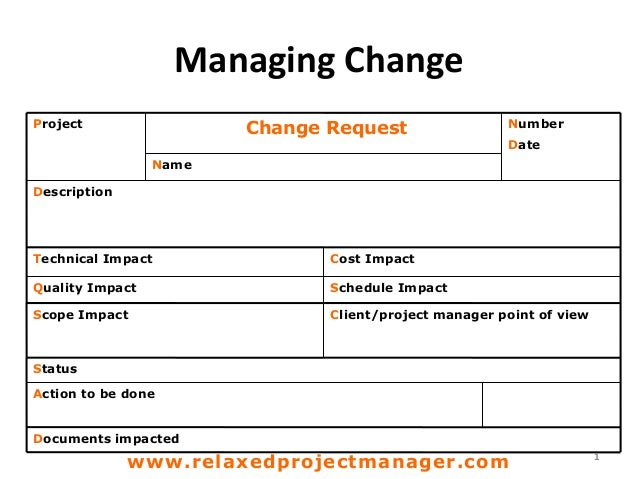 Request For Change Template. PM002 03 Change Request Form Template ...
