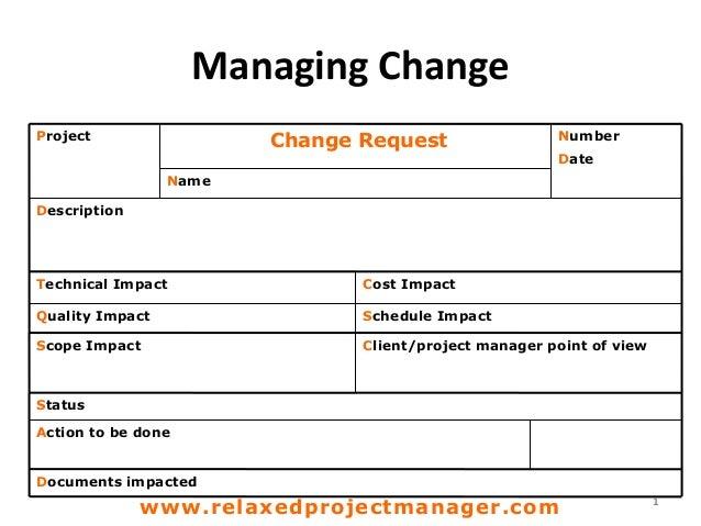 Change request ...