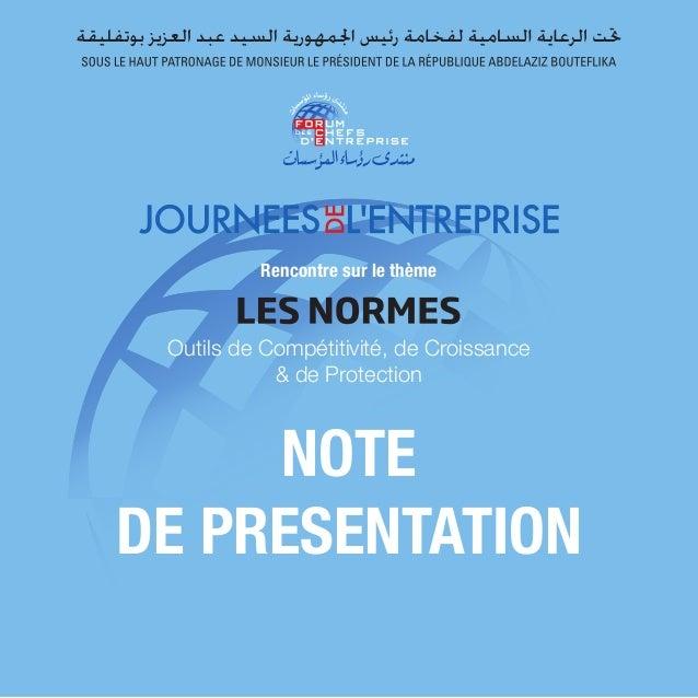 Rencontre sur le thème  Outils de Compétitivité, de Croissance  & de Protection  NOTE  DE PRESENTATION