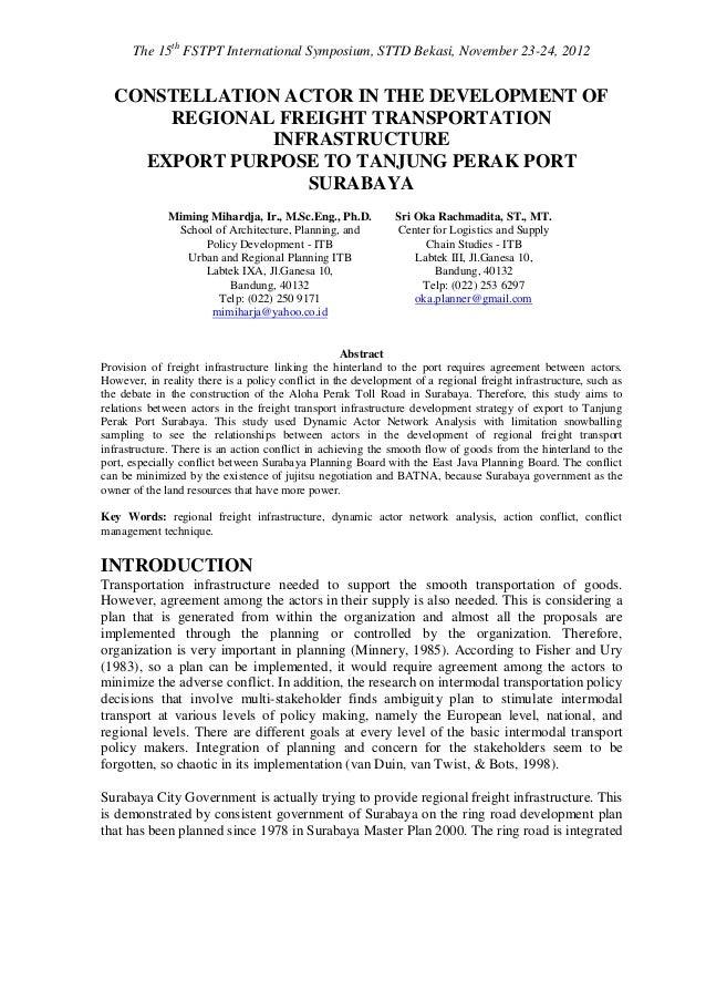 The 15th FSTPT International Symposium, STTD Bekasi, November 23-24, 2012  CONSTELLATION ACTOR IN THE DEVELOPMENT OF      ...