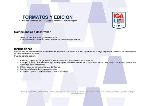 Instituto Guatemalteco Americano© Prohibida la reproducción total o parcial de esta obra, por cualquier medio, sin autoriz...