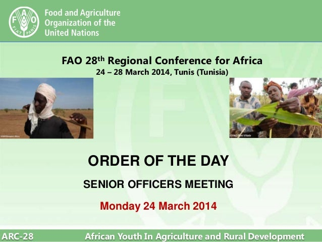 FAO 28th Regional Conference for Africa - order of the day