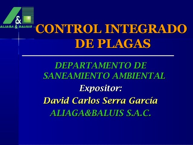 Control integrado de plagas for Control de plagas badajoz