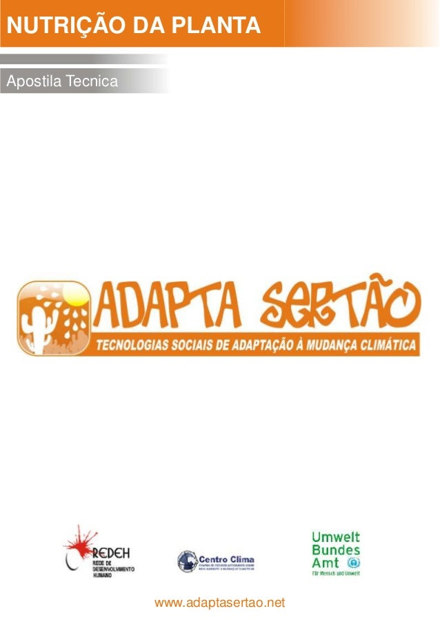 NUTRIÇÃO DA PLANTA  Apostila Tecnica  www.adaptasertao.net