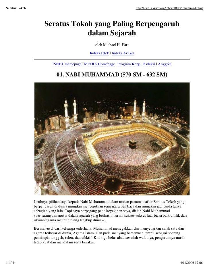 Seratus Tokoh                                                                      http://media.isnet.org/iptek/100/Muhamm...