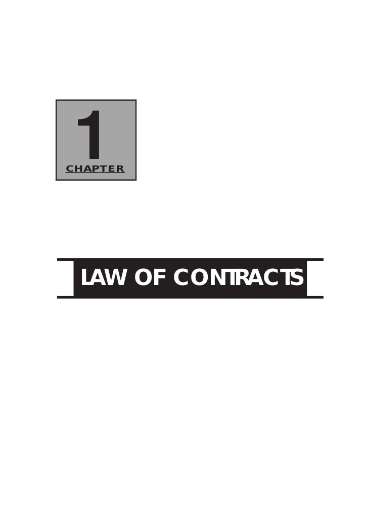 1CHAPTER LAW OF CONTRACTS