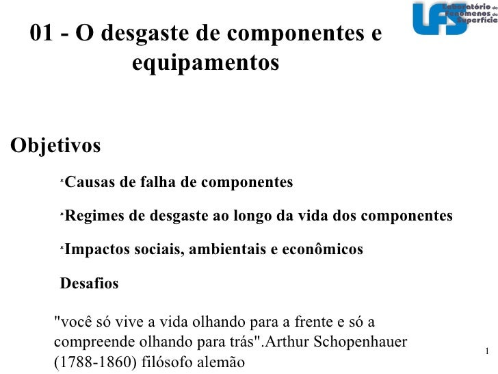 <ul><li>Objetivos </li></ul><ul><ul><ul><li>Causas de falha de componentes </li></ul></ul></ul><ul><ul><ul><li>Regimes de ...