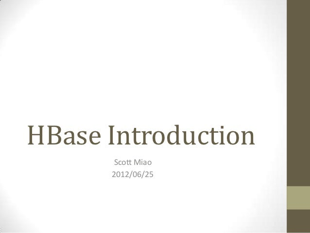 001 hbase introduction