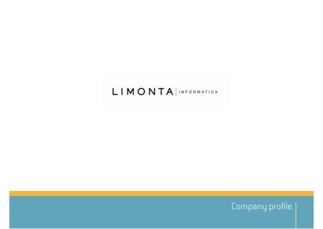 Limonta Informatica – presentazione società