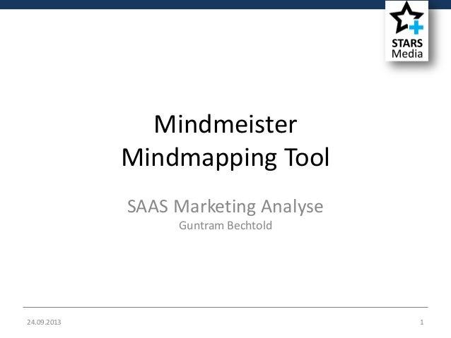 24.09.2013 1 Mindmeister Mindmapping Tool SAAS Marketing Analyse Guntram Bechtold
