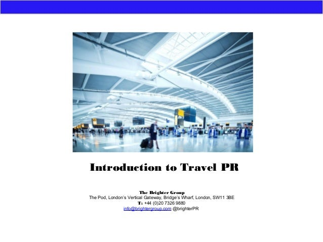 Introduction to Travel PR - TBU Rotterdam