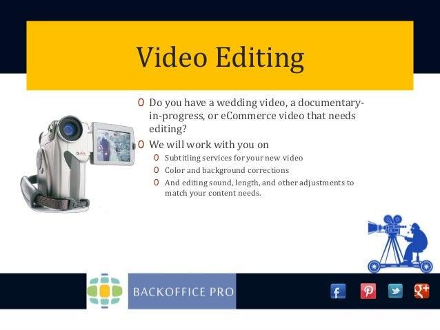 Editing service