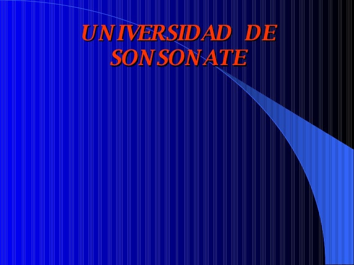 UNIVERSIDAD  DE SONSONATE