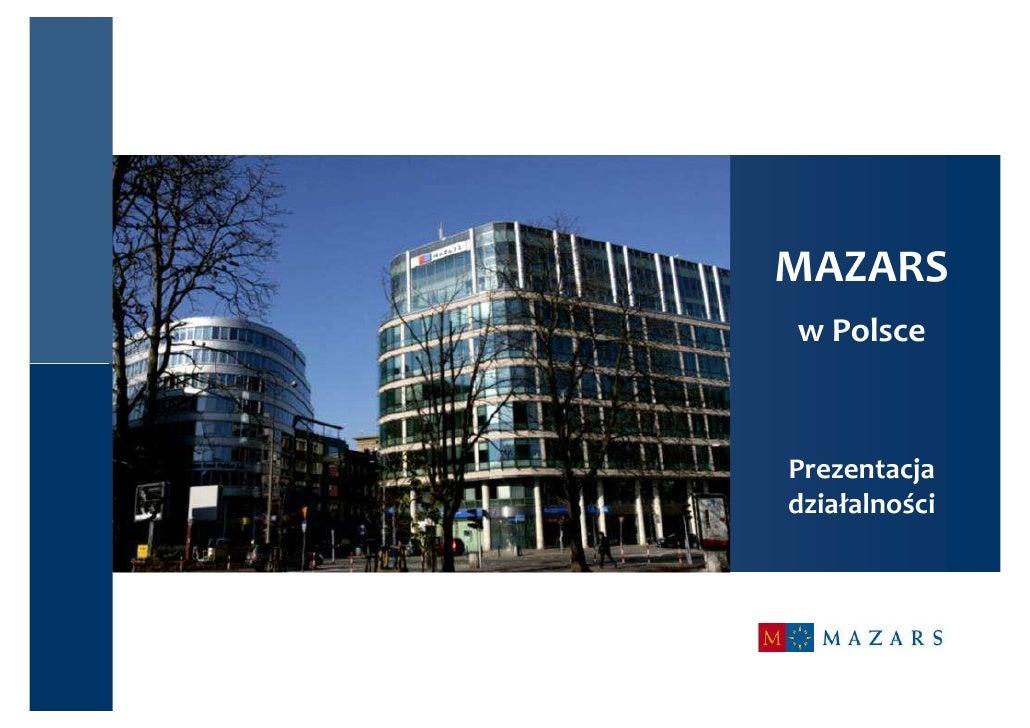 MAZARSw PolscePrezentacjadziałalności