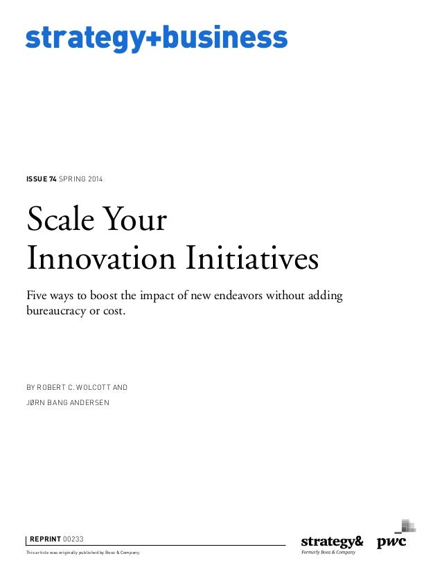 Scale Your Innovation Initiatives