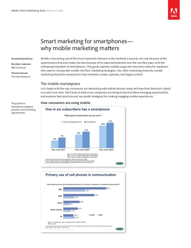 Why Mobile marketing is important and important trends in mobile marketing