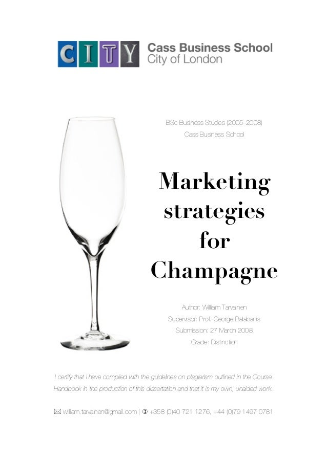 Thesis marketing strategies
