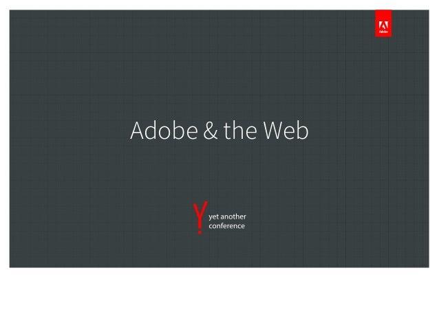 Adobe & the Web