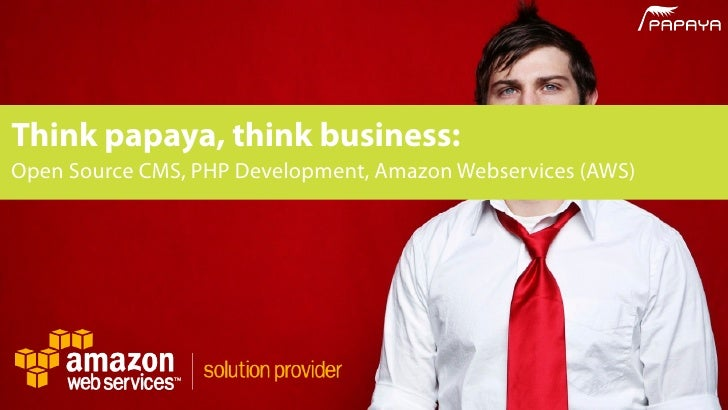 Think papaya, think business: Open Source CMS, PHP Development, Amazon Webservices (AWS)