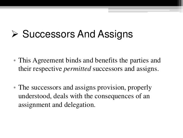Contract assignment clause