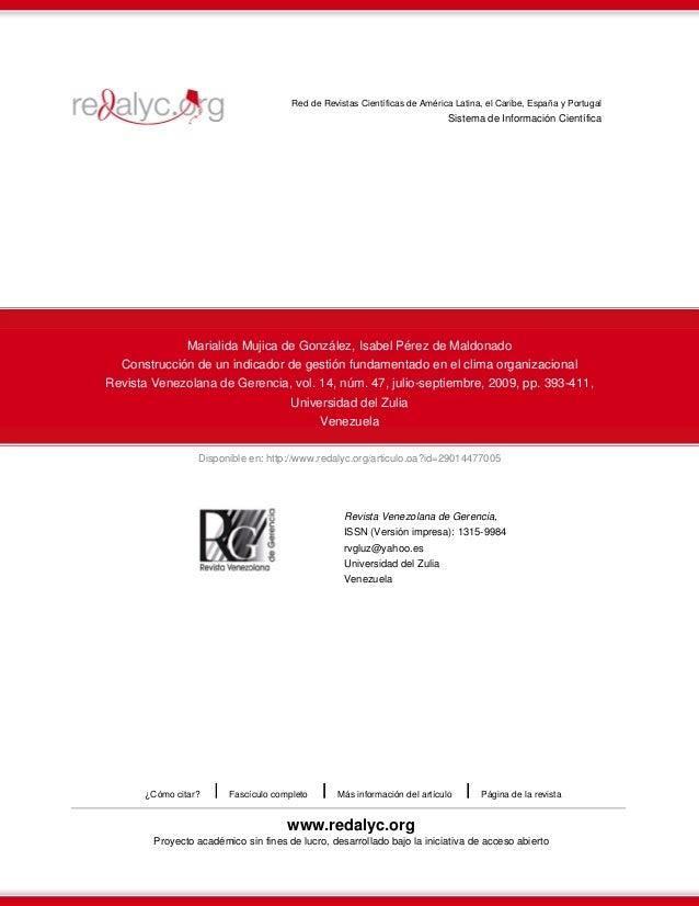 Disponible en: http://www.redalyc.org/articulo.oa?id=29014477005 Red de Revistas Científicas de América Latina, el Caribe,...