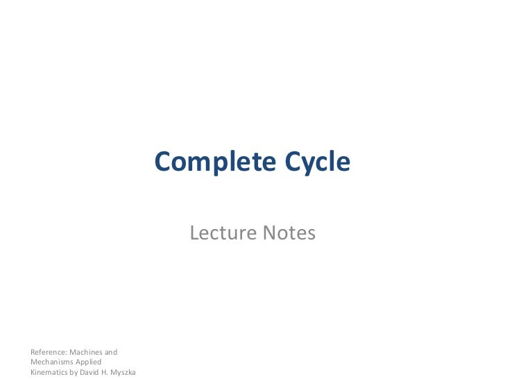 004a complete cycle