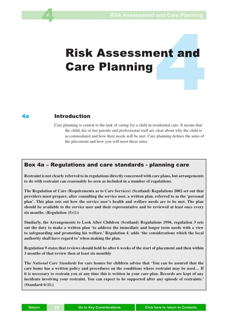 4                                       Risk Assessment and Care Planning     4a                        Risk Assessment an...