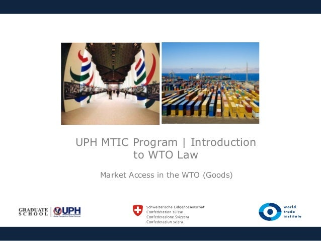 Lesson Four | Market Access in the WTO (goods)