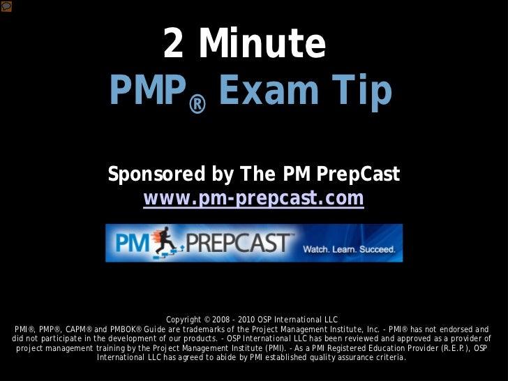 PMP Exam Tip 004: Prepare Mentally for the Exam