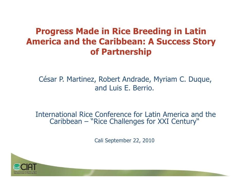 005   progress made in rice breeding in lac, cesar martinez