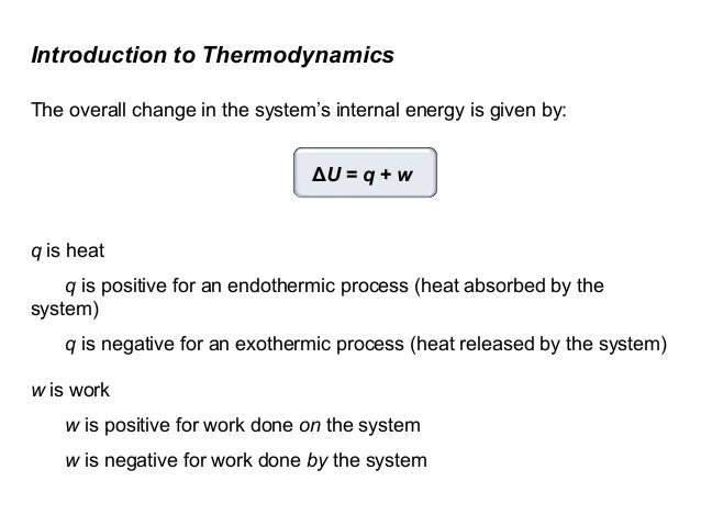 how to find change in internal energy of a system