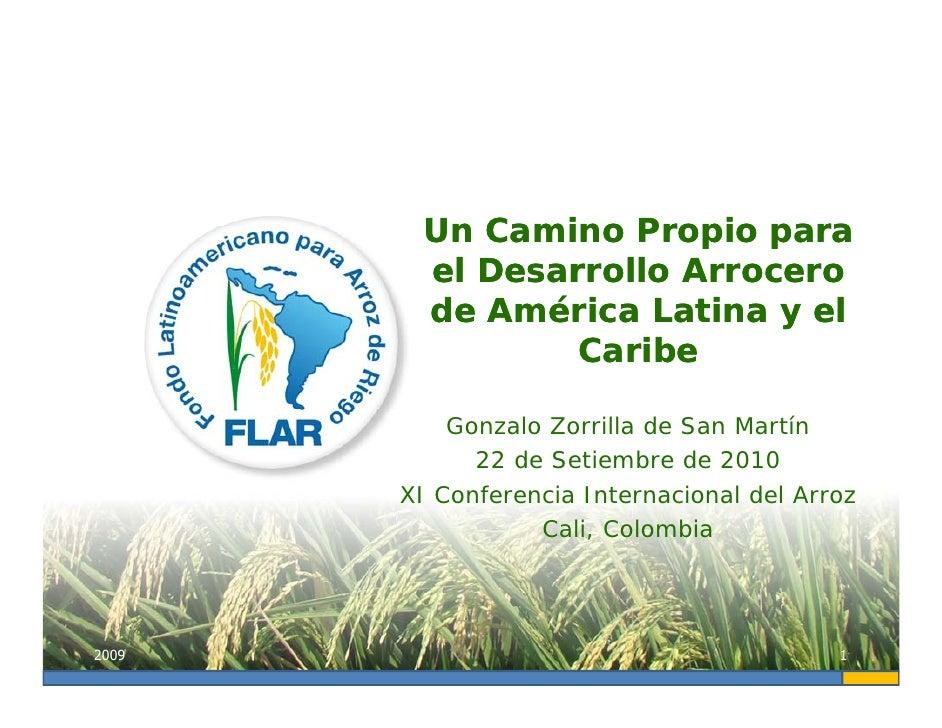 Un Camino Propio para         el Desarrollo Arrocero         de América Latina y el                 Caribe             Gon...
