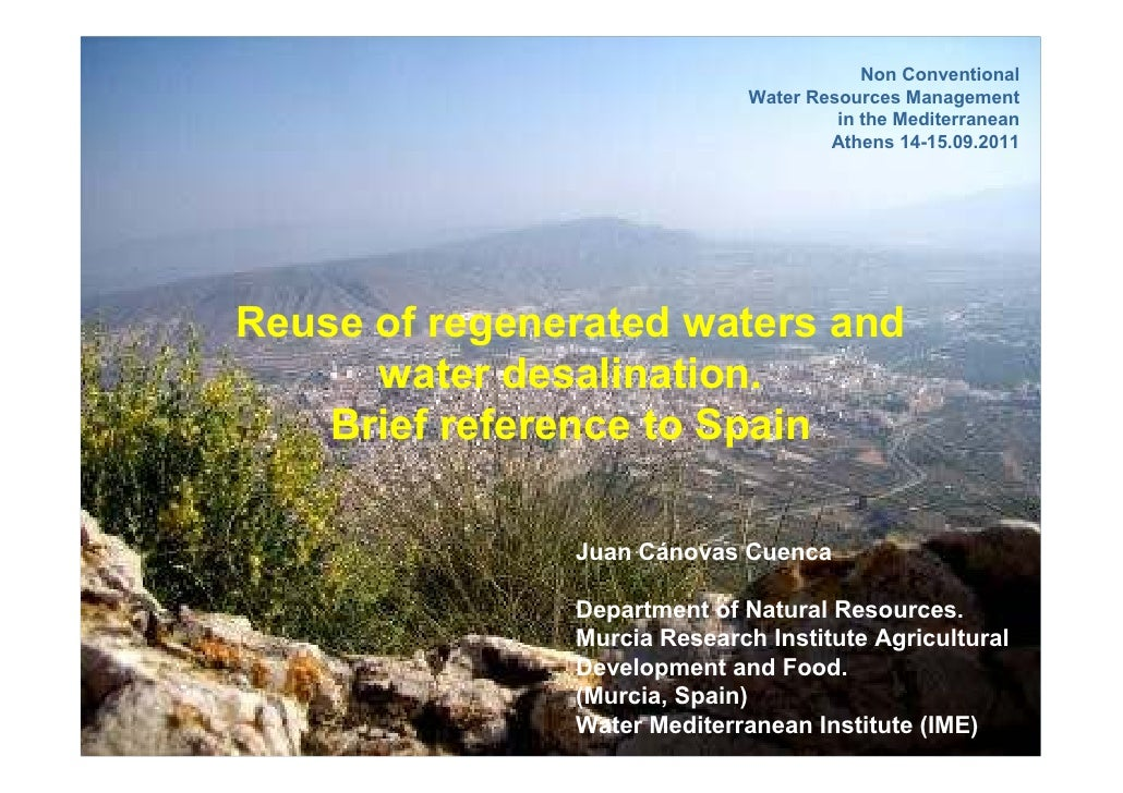 Non Conventional                              Water Resources Management                                       in the Medi...